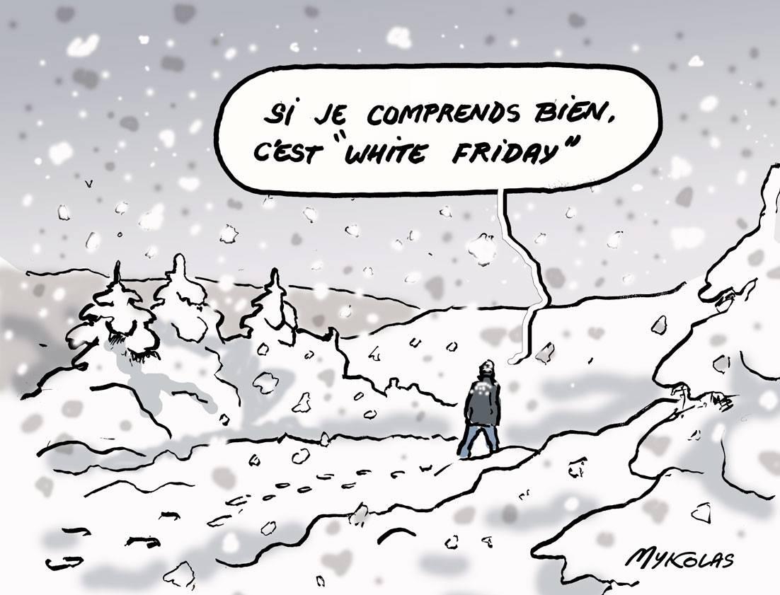 blague sur la neige