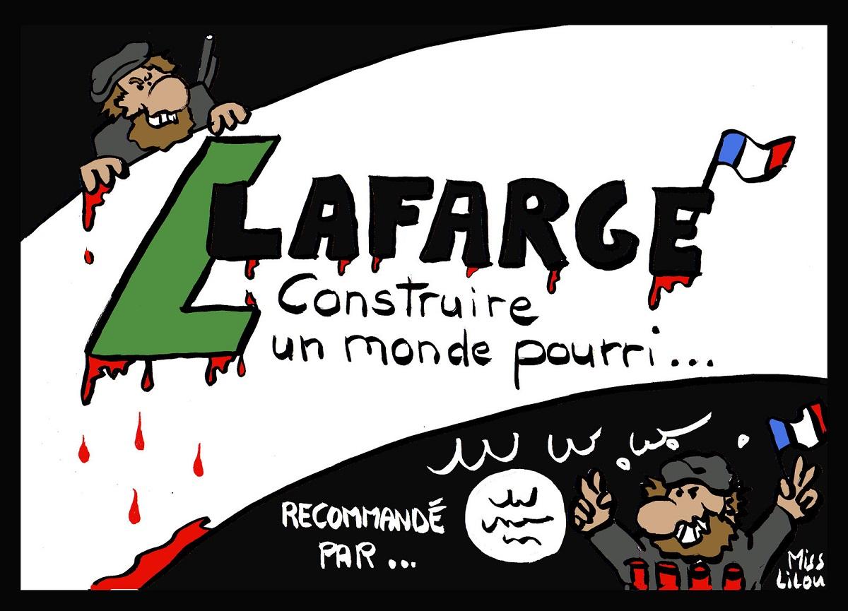 dessin humoristique de Lafarge, recommandé par les terroristes de DAESH