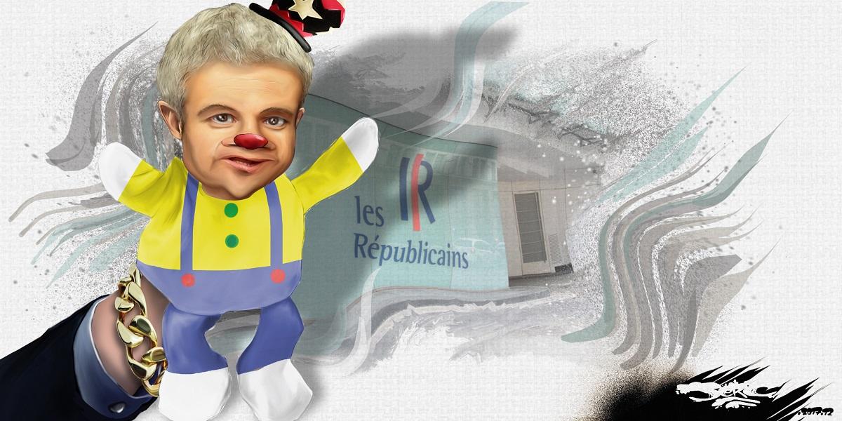 dessin humoristique de Laurent Wauquiez, marionnette chef des Ripoublicains
