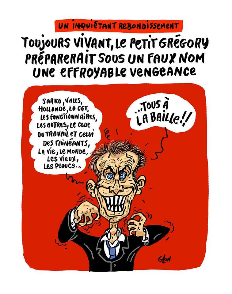 dessin humoristique d'Emmanuel Macron préparant sa vengeance contre l'ensemble des français