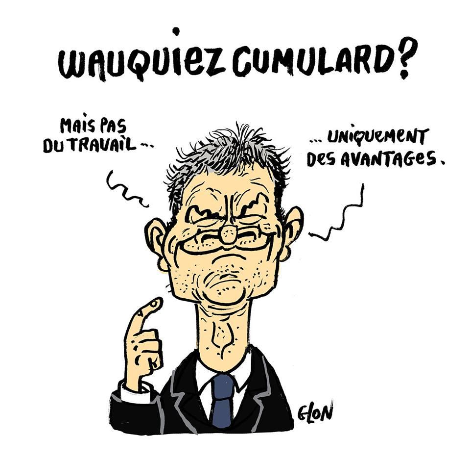 dessin humoristique de Laurent Wauquiez parlant de son cumul des avantages