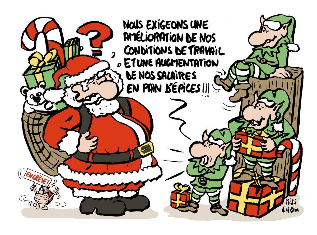 Dessin du p re no l blagues et dessins - Image humoristique pere noel ...