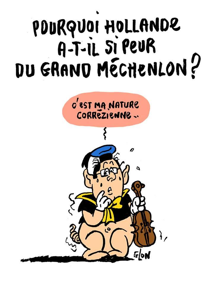dessin humoristique de François Hollande en trois petits cochons