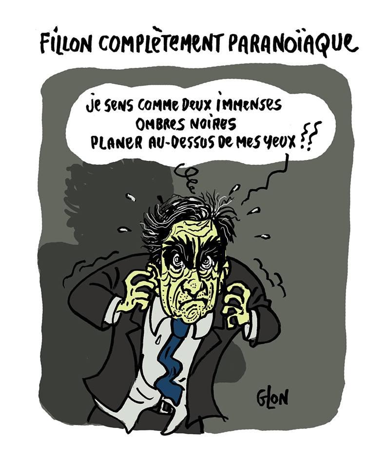 dessin humoristique de François Fillon et ses énormes sourcils