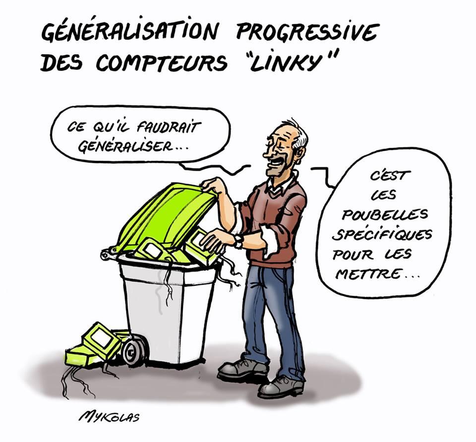 dessin humoristique d'un utilisateur de compteur Linky