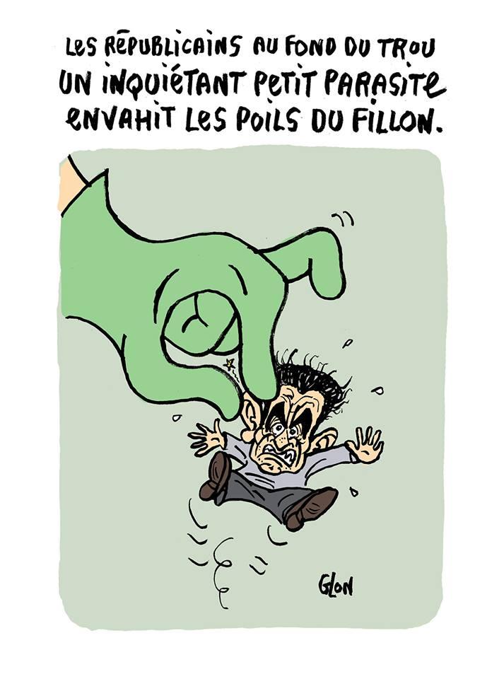dessin drôle de Nicolas Sarkozy parasitant Les Républicains