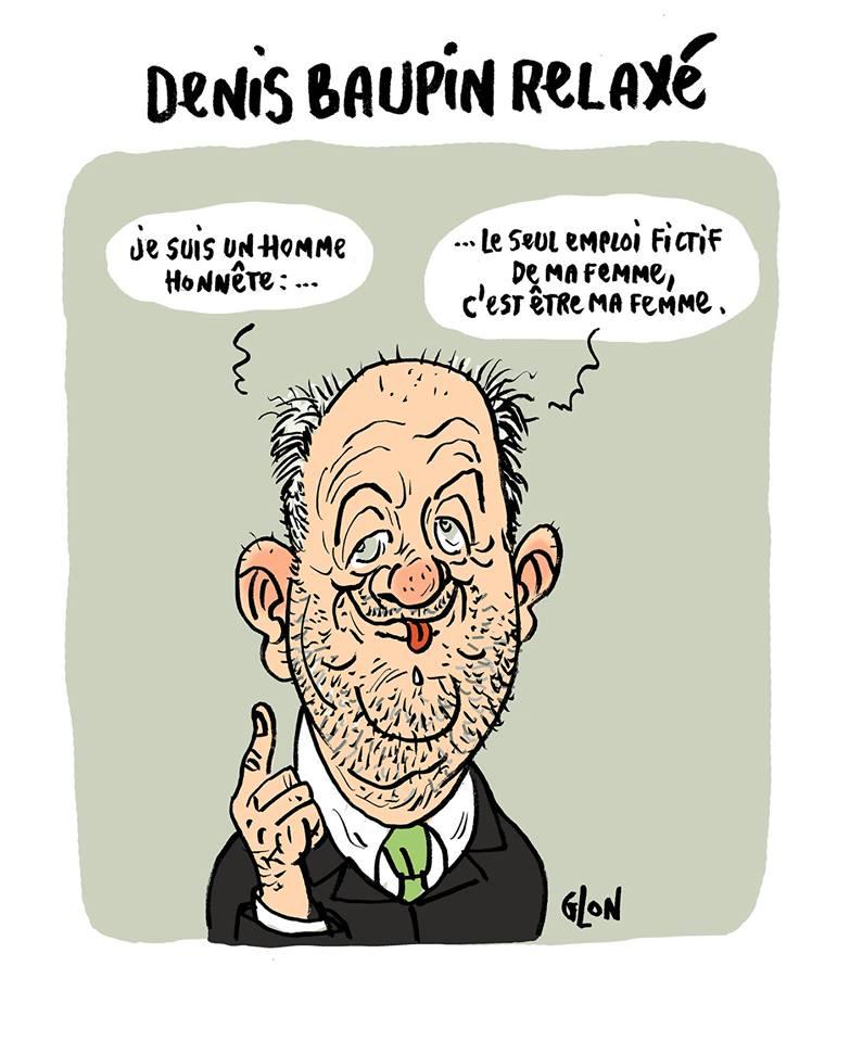 dessin humoristique de Denis Baupin parlant de son honnêteté