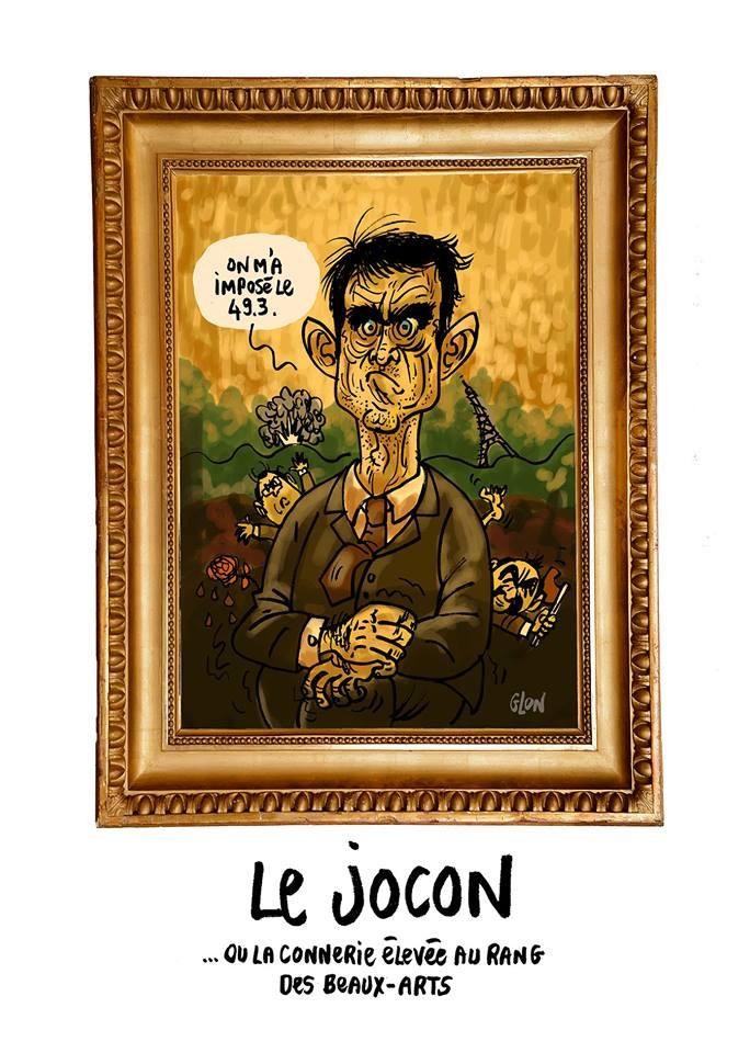 dessin humoristique de Manuel Valls en Joconde