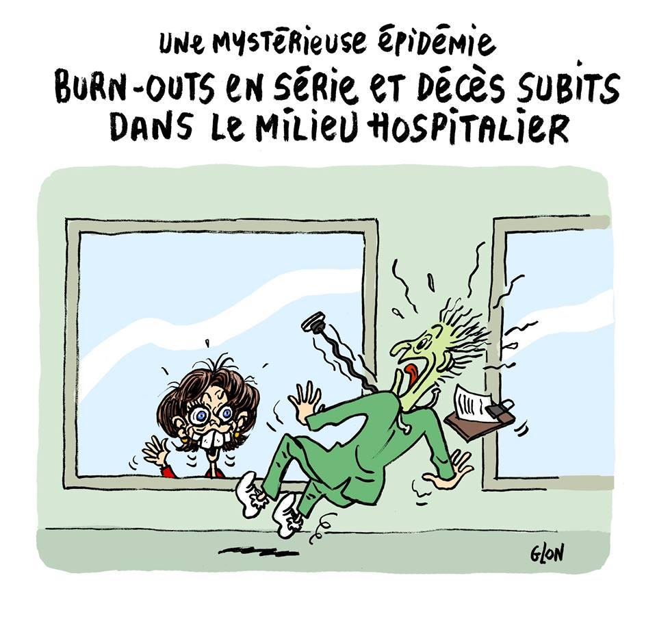 dessin humoristique de Marisol Touraine terrorisant un médecin dans un hôpital