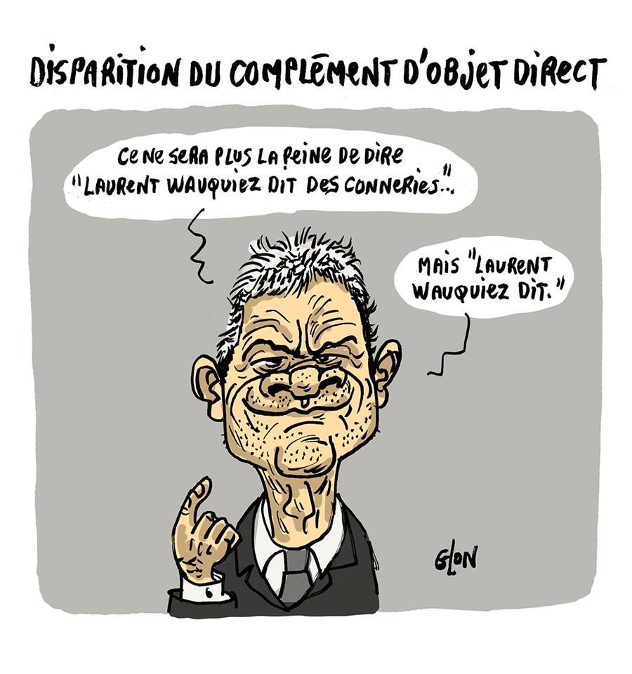 dessin humoristique de Laurent Wauquiez expliquant les nouvelles règles de grammaire
