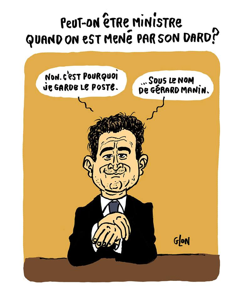 dessin humoristique de Gérald Darmanin qui parle de son avenir politique