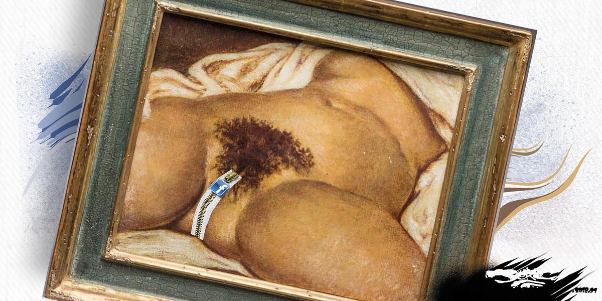 dessin humoristique de l'Origine du monde de Courbet censuré par Facebook