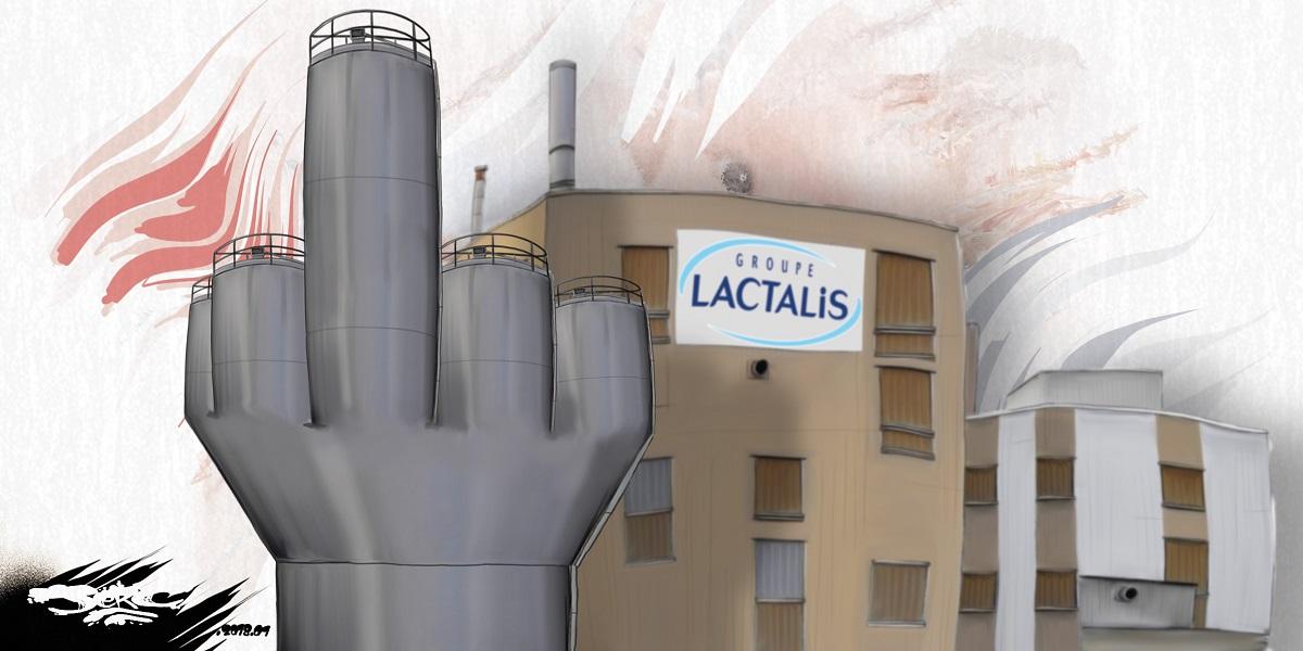 dessin humoristique de l'entreprise Lactalis