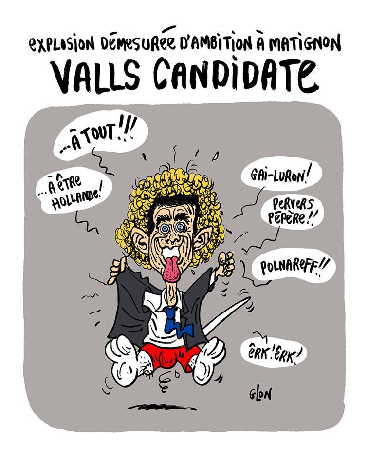dessin humoristique de Manuel Valls déguisé