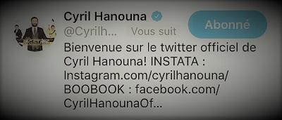 copie d'écran Twitter du suivi de Blagues et Dessins par Cyril Hanouna