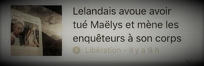 copie d'écran d'actualité, Nordahl Lelandais avoue avoir tué Maëlys