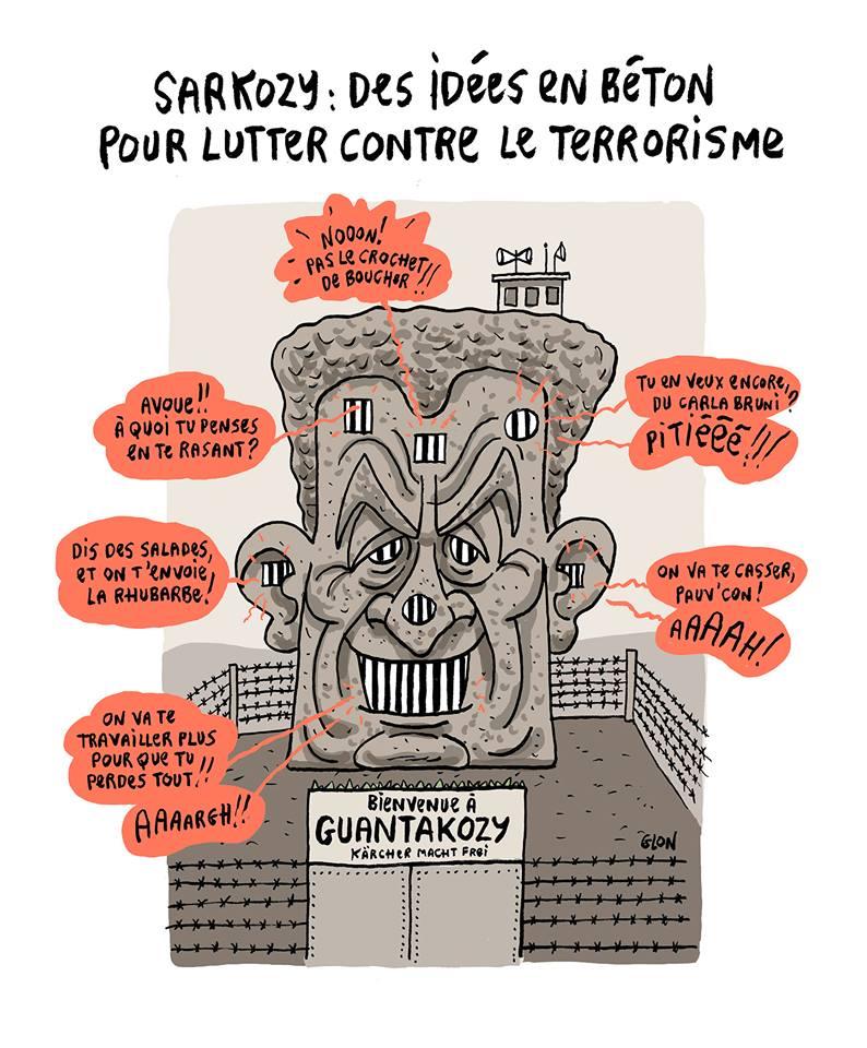 dessin humoristique de la prison idéale de Nicolas Sarkozy