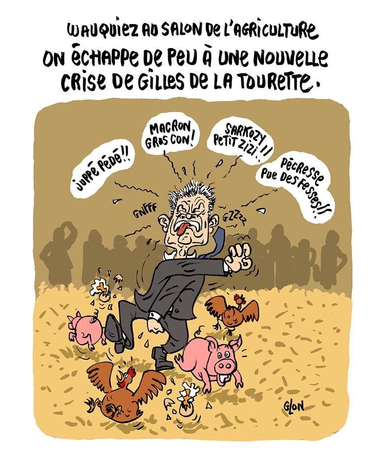 dessin humoristique de Laurent Wauquiez au Salon de l'agriculture