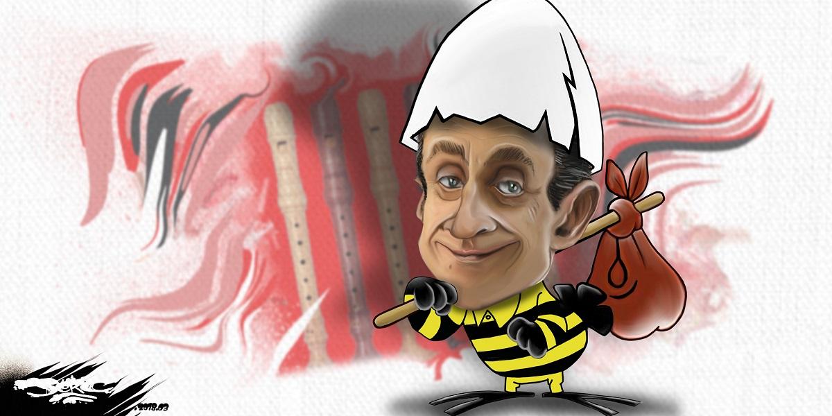 dessin d'actualité de Nicolas Sarkozy en Caliméro prisonnier