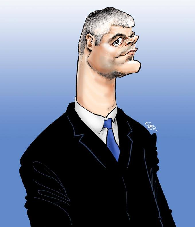dessin humoristique de Laurent Wauquiez caricaturé
