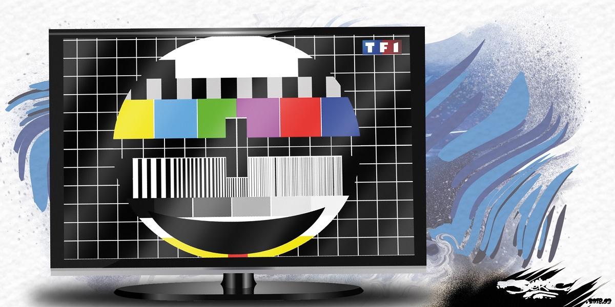 dessin humoristique de la mire hors antenne de TF1
