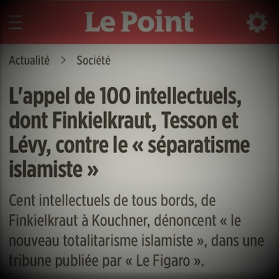 L'appel des intellectuels contre le danger du séparatisme islamiste