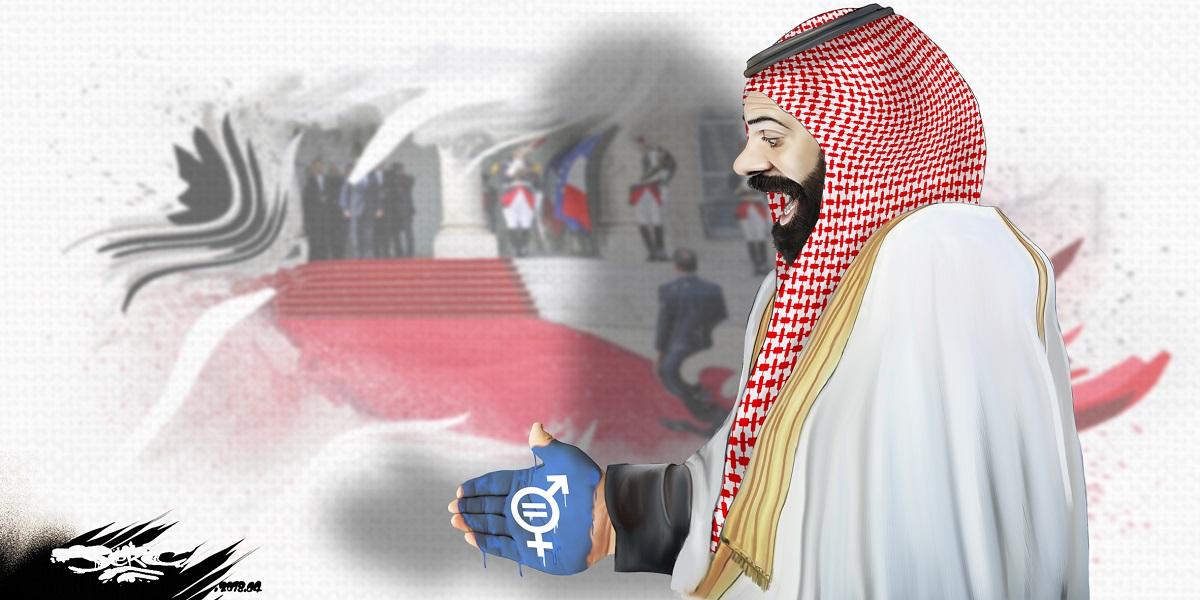 dessin d'actualité humoristique de Mohammed Ben Salmane et de l'égalité homme-femme