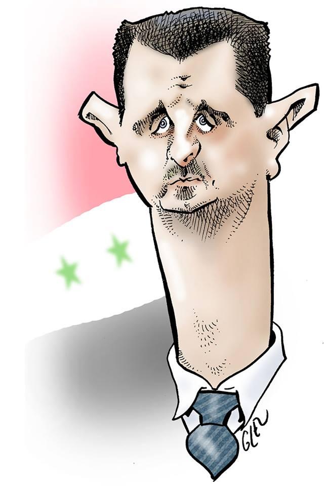 dessin humoristique de Bachar el-Assad