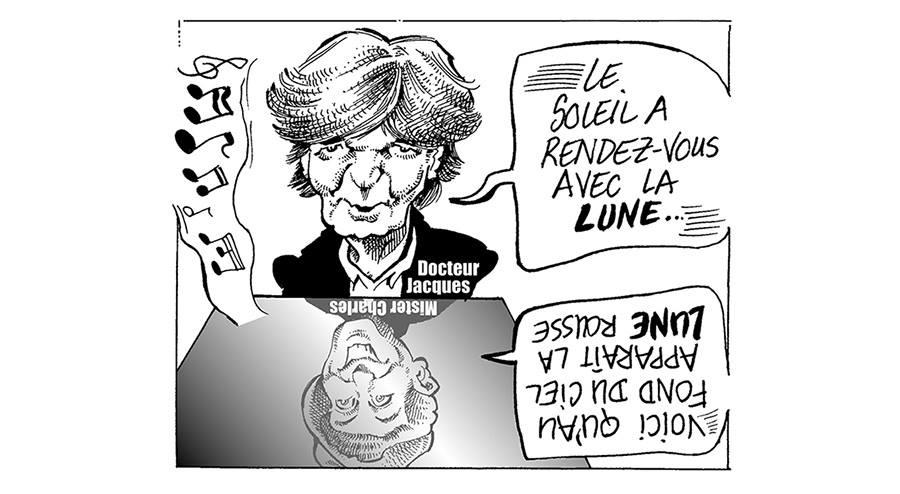 dessin d'actualité humoristique sur la disparition de Jacques Higelin