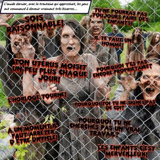 photomontage de présentation des moutons noirs - Walking Dead trentaine