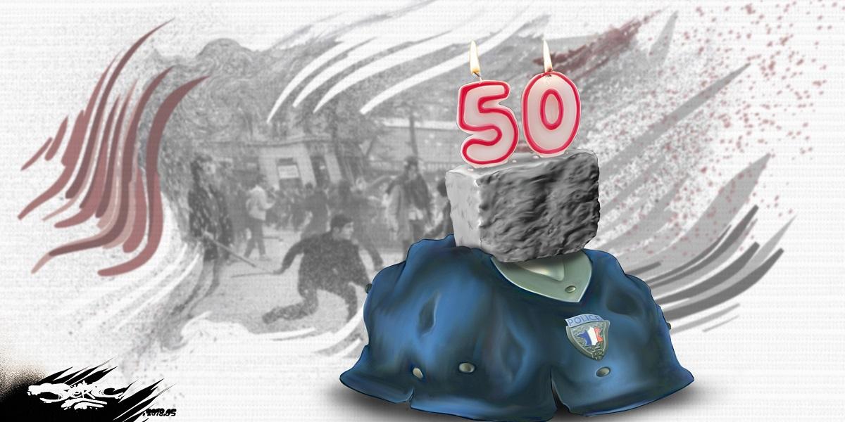 dessin d'actualité sur l'anniversaire des 50 ans de mai 68