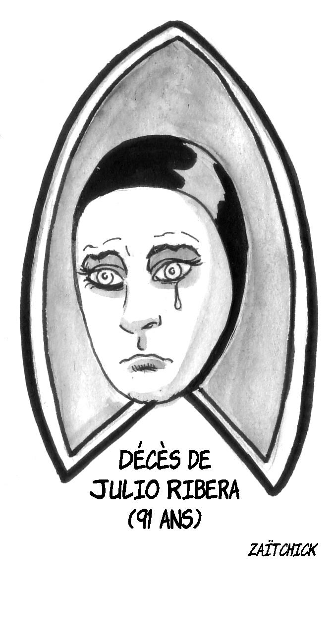 dessin d'actualité du vagabond des limbes en hommage à Julio Ribera