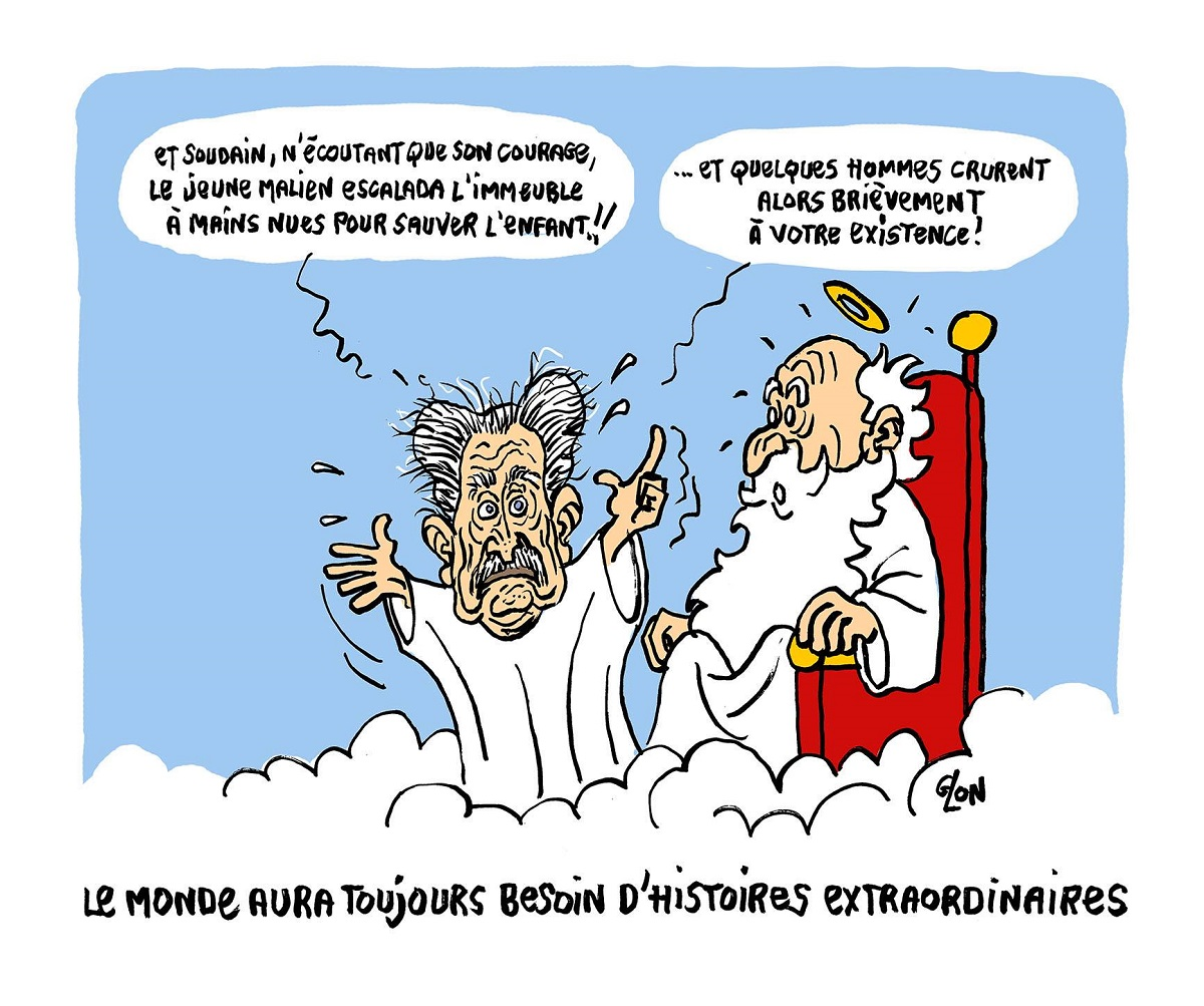 dessin d'actualité en hommage à Pierre Bellemare