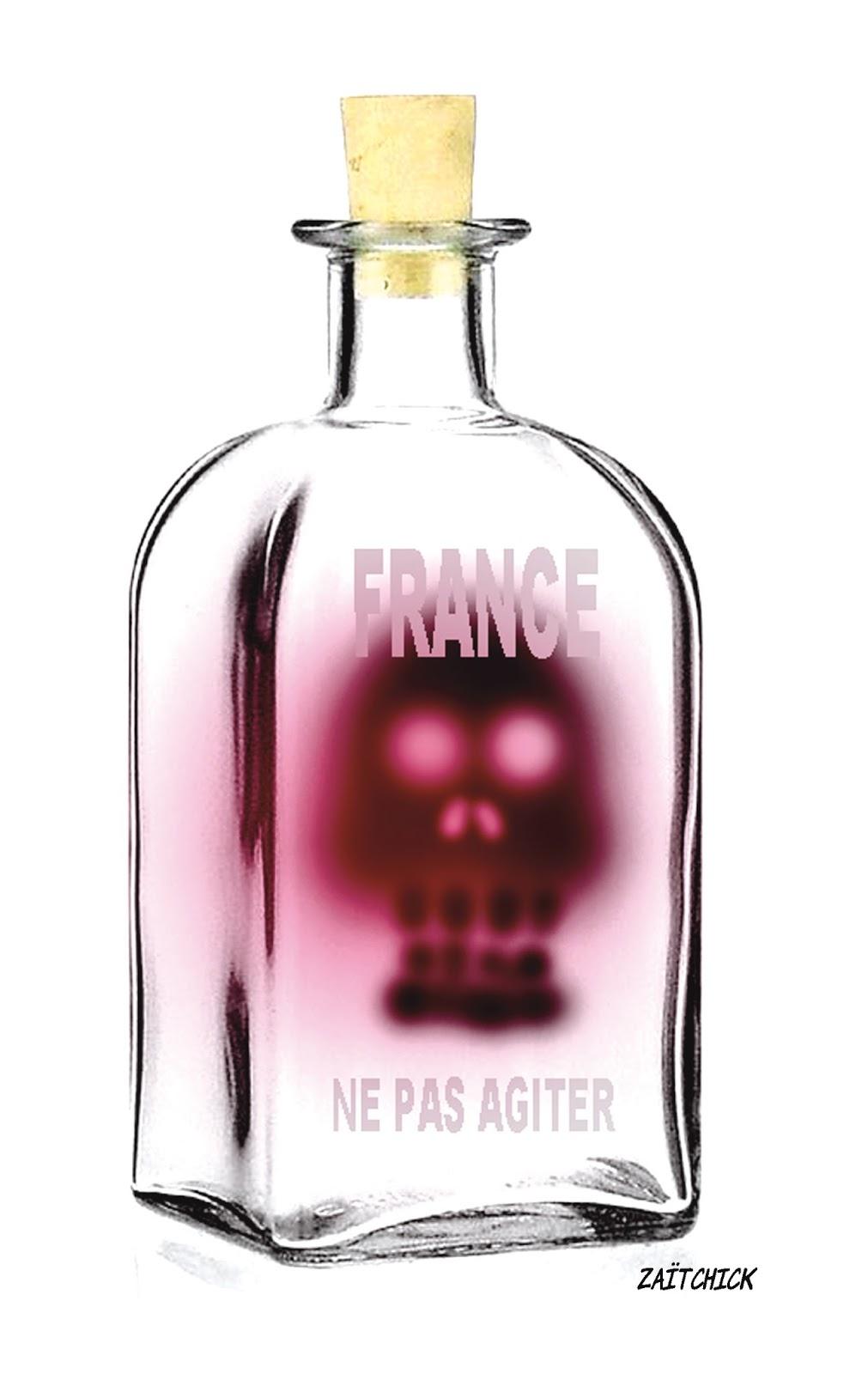 dessin d'actualité France à ne pas agiter