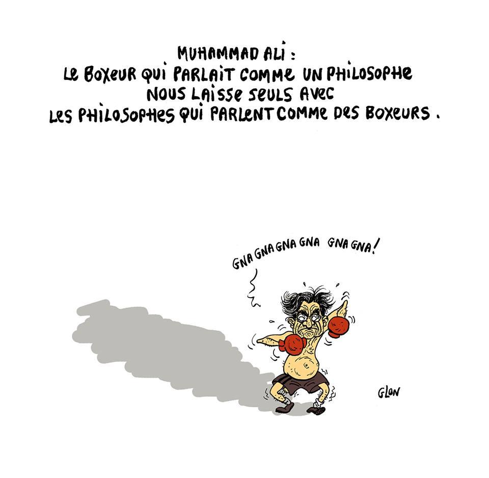 dessin d'actualité en hommage à Mohamed Ali