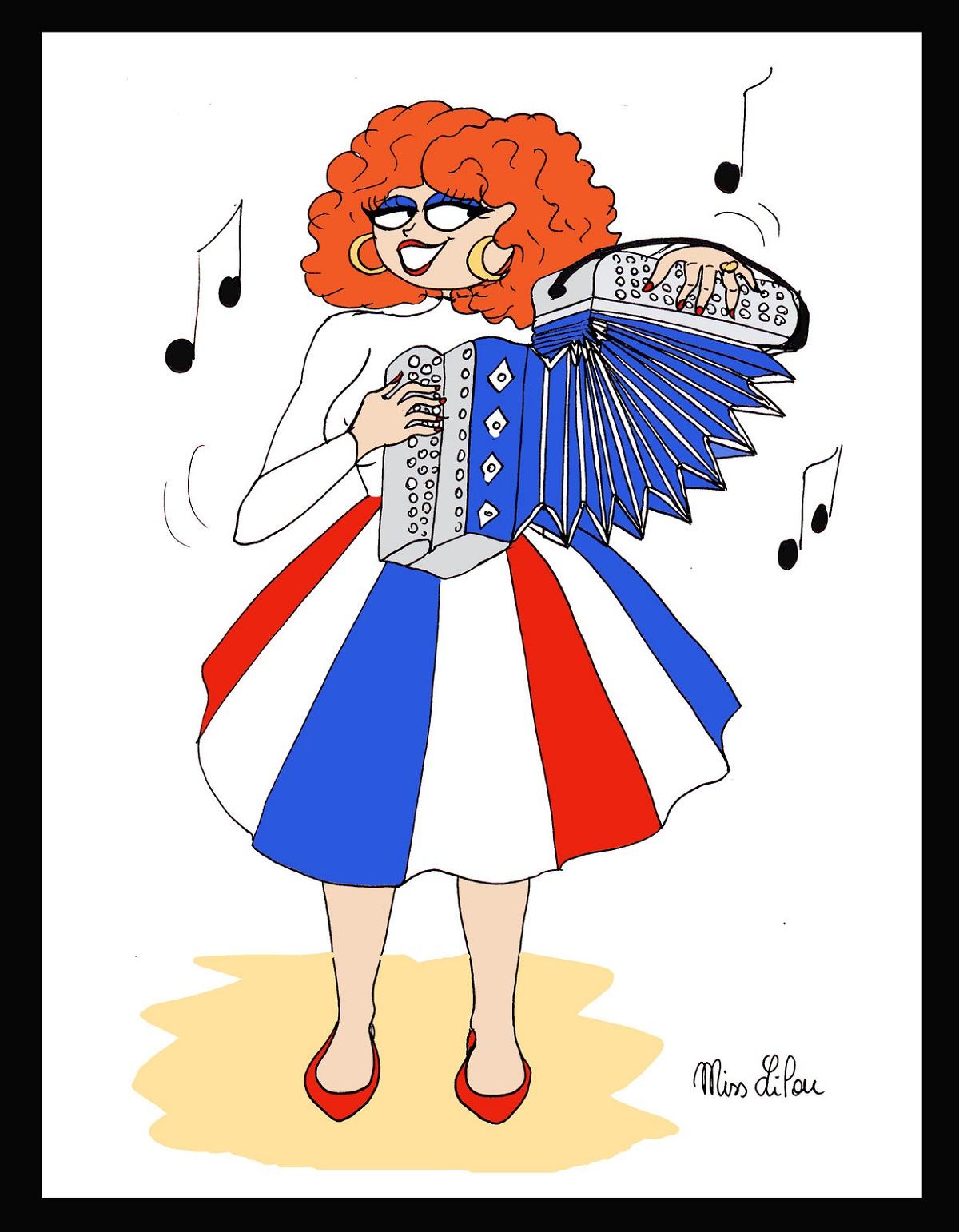 dessin d'actualité en hommage à Yvette Horner