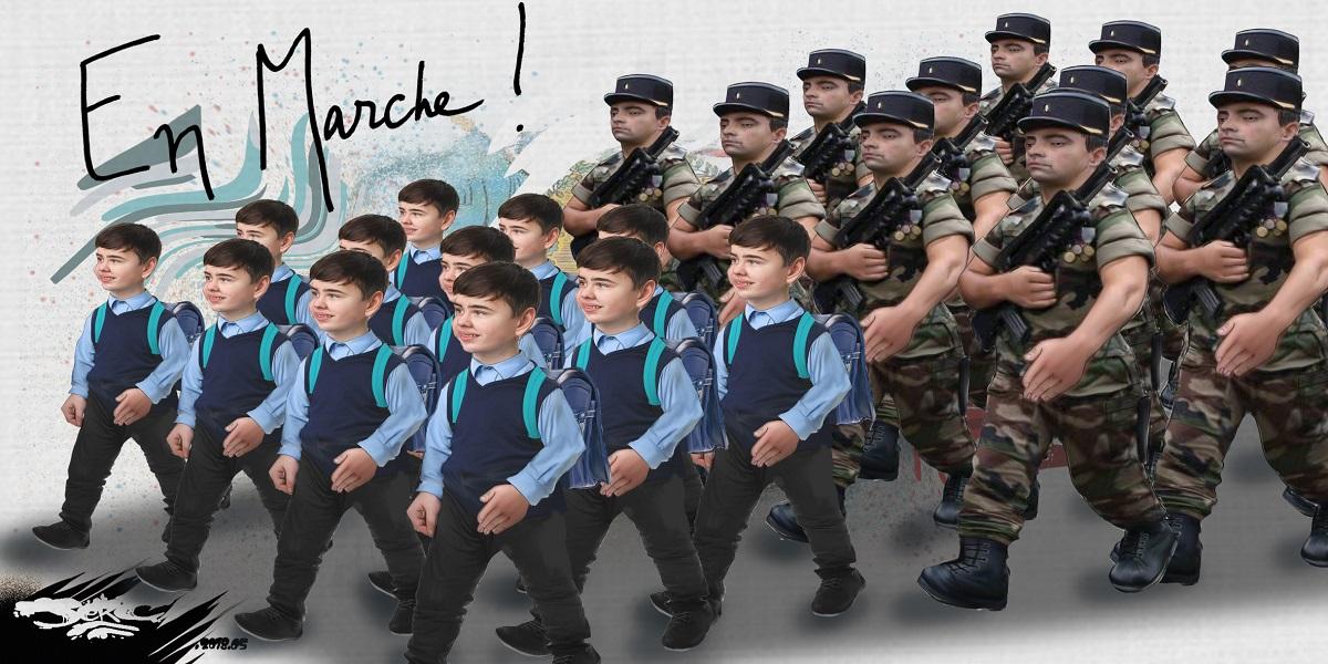 dessin d'actualité humoristique sur le retour des uniformes à l'école