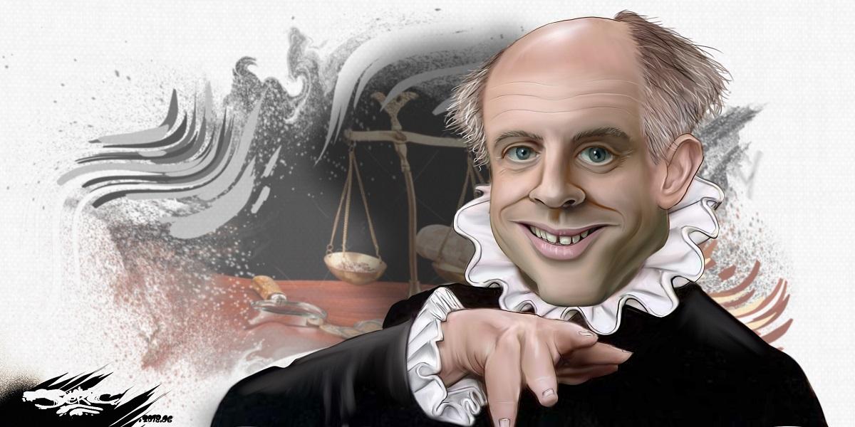 dessin d'actualité montrant Emmanuel Macron en Avare de Molière