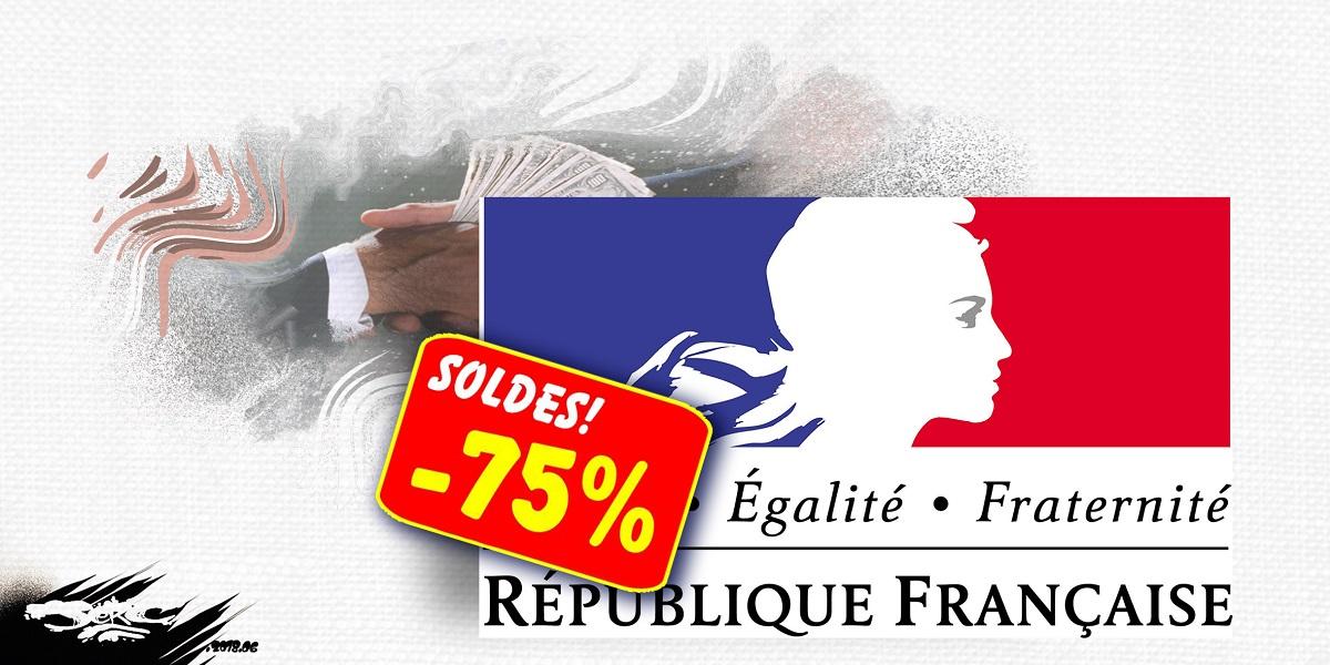 dessin d'actualité humoristique sur les ristournes accordées au candidat Emmanuel Macron