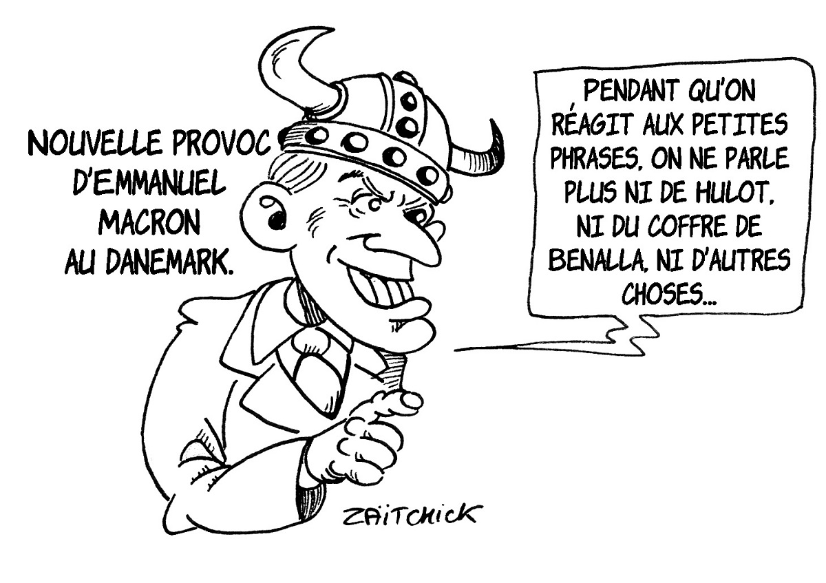 dessin d'actualité sur les gaulois réfractaires au changement d'Emmanuel Macron