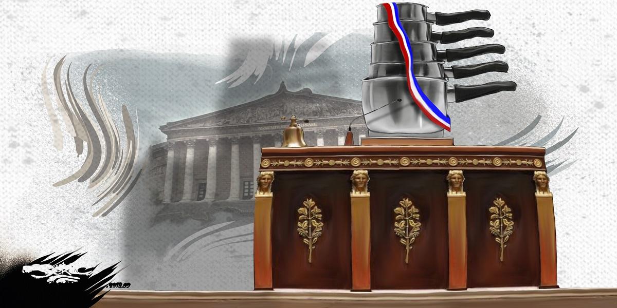 dessin d'actualité humoristique sur la nomination de Richard Ferrand à l'Assemblée Nationale
