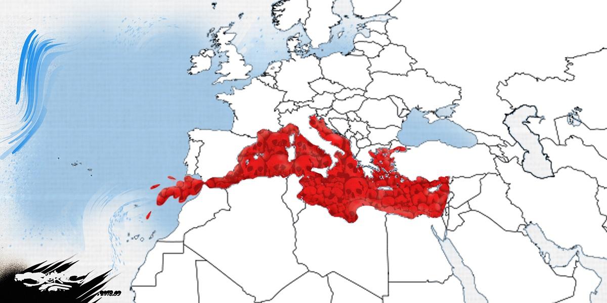 dessin d'actualité sur la mort des migrants en mer Méditerranée