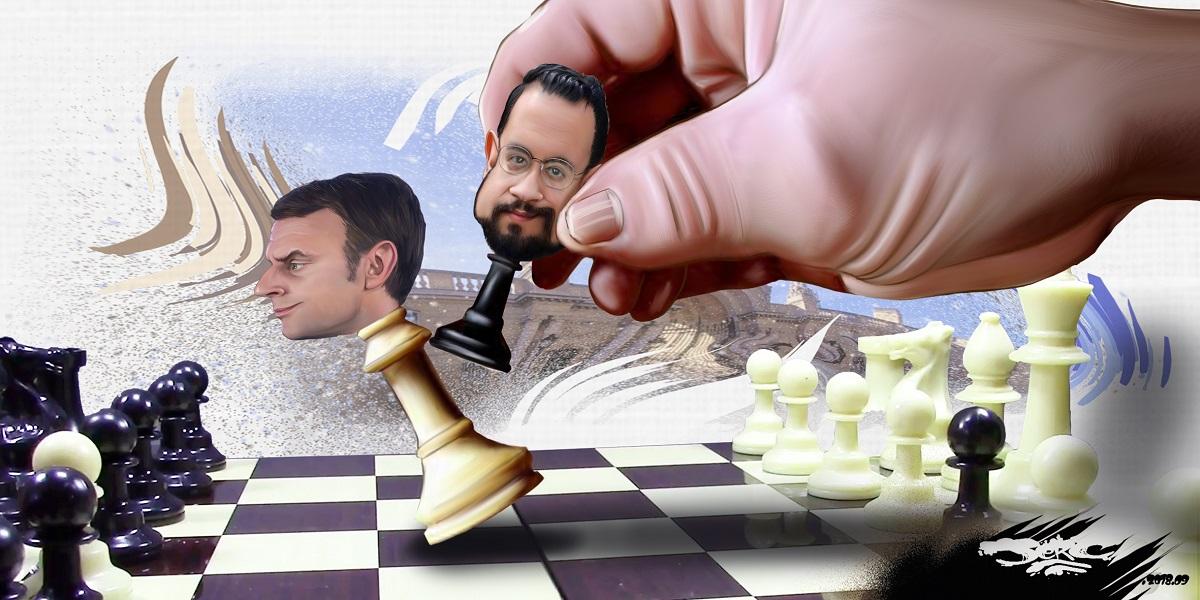 dessin d'actualité humoristique sur l'affaire Benalla
