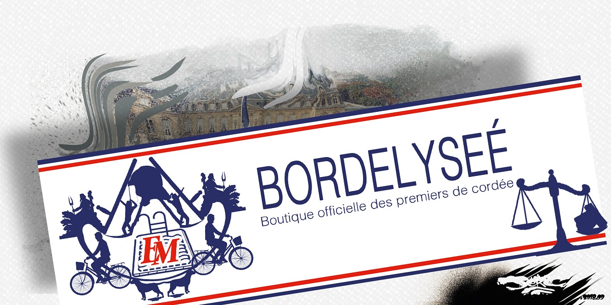dessin d'actualité humoristique du logo de la boutique officielle de l'Élysée
