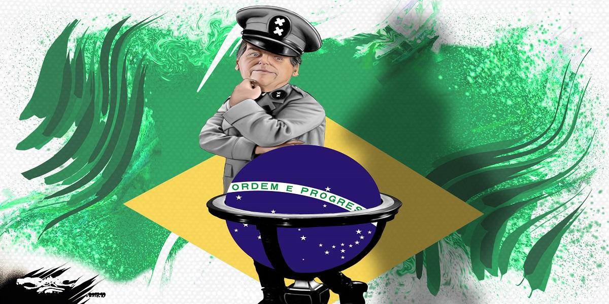 dessin d'actualité humoristique sur la campagne électorale de Jair Bolsonaro au Brésil
