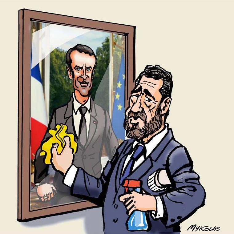 dessin d'actualité humoristique de Christophe Castaner face au remaniement ministériel