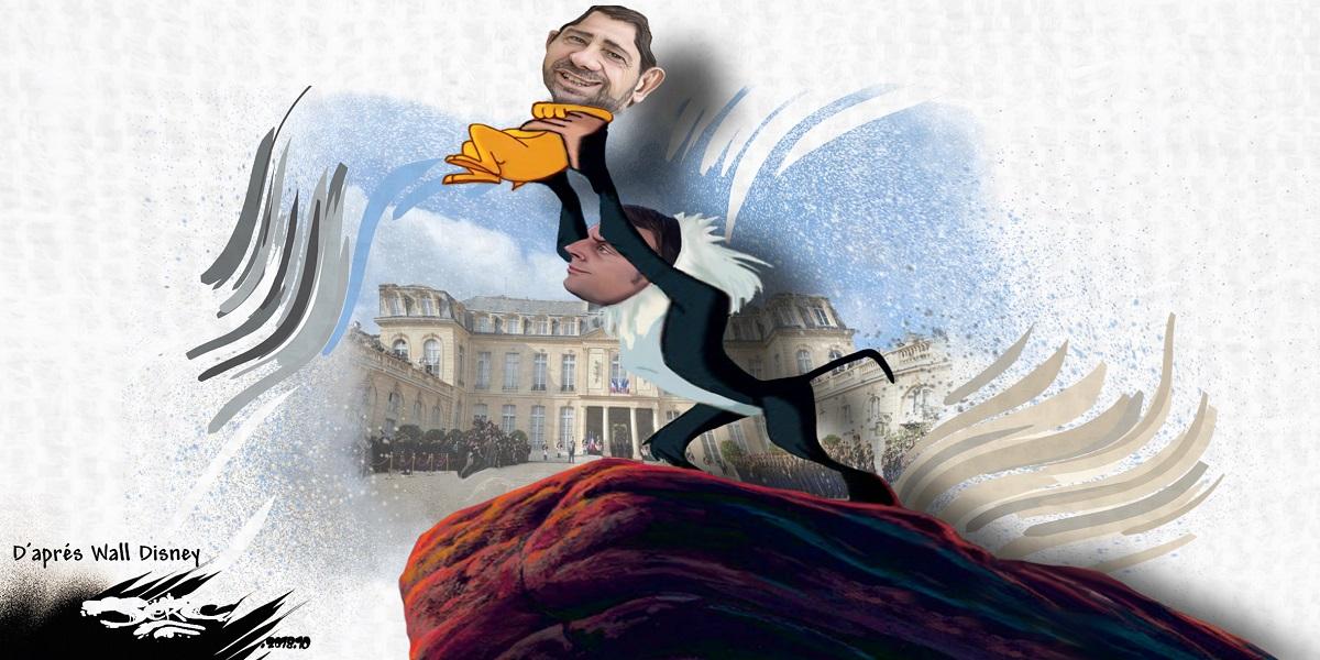 dessin d'actualité humoristique sur le remaniement ministériel