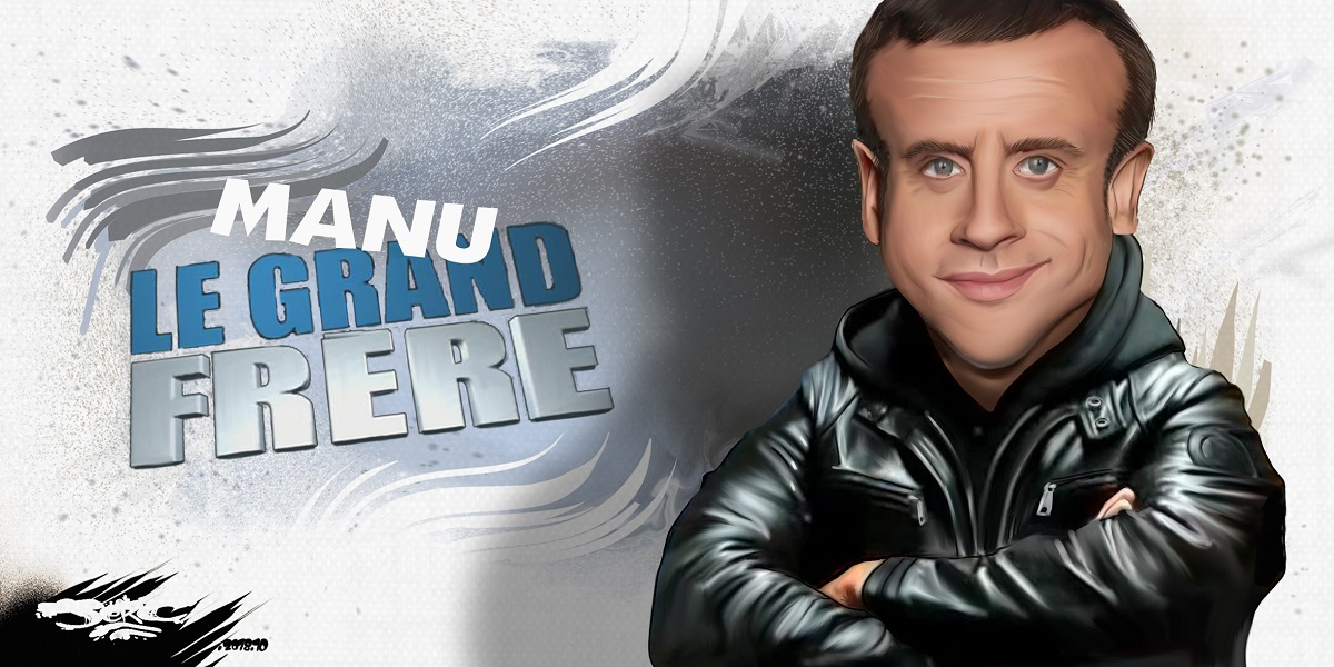 dessin d'actualité humoristique sur la baisse d'Emmanuel Macron dans les sondages