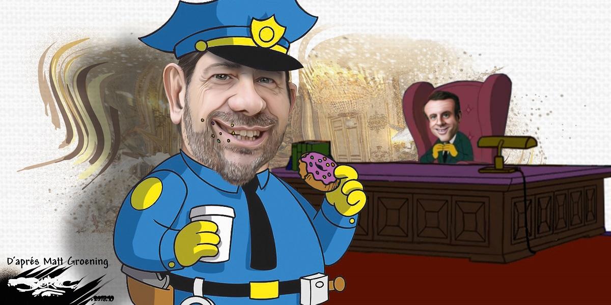 dessin d'actualité humoristique sur le remaniement ministériel et la nomination de Christophe Castaner au Ministère de l'Intérieur