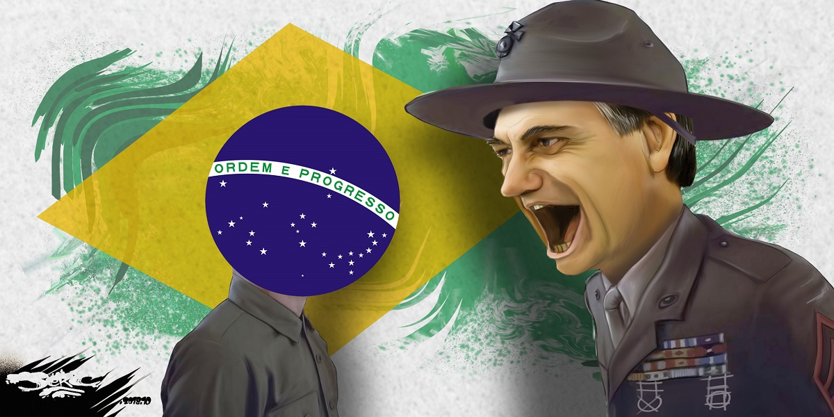 dessin d'actualité sur l'élection de Jair Bolsonaro au Brésil